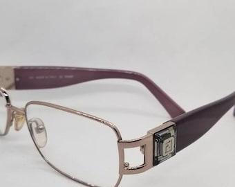 2a819638a314 Vintage Fendi Purple Eyeglasses Frames Mod F773R RX LENSES