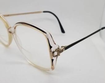 bd8f995c563 Vintage Gucci Clear Gold Eyeglasses Frames Mod GG 2304 RX LENSES