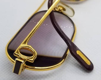 e1dc406333 Vintage 1980s Cartier Louis Lacquer Gold Plated Eyeglasses Frames Rx LENSES