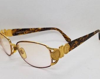 f47649bec9f2 Vintage Fendi Gold Eyeglasses Frames Mod FS 295 RX LENSES