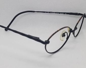 696a14c3e4e6 Vintage Fendi Black Eyeglasses Frames Mod F33 Tortoise Shiny Black NO LENSES