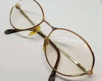 4b2c0f2b49ad Vintage Fendi Eyeglasses Frames Mod.F83 Gold Bronze RX LENSES
