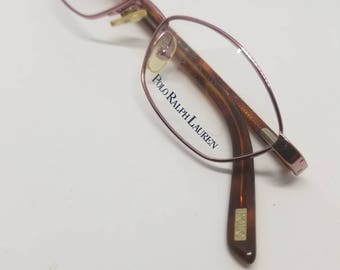 5267ece1cb Vintage Ralph Lauren Rose gold New Old Stock Polo Prep 8006 Kids Glasses  DEMO LENSES
