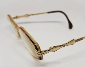 62d8ef3c0b02 Vintage Cazal Gold tone Eyeglasses Frames RX LENSES