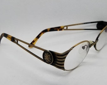 8487706a5e0e Vintage Fendi Eyeglasses Frames Mod FS142 Tortoise Antique Bronze RX LENSES