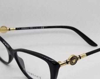 73f8f2cc725 Vintage New Old Stock Versace Eyeglasses Frames Mod 3206 DEMO LENSES