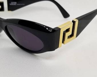 121e86e01225a RARE 90s Vintage Gianni Versace Gold Key Sunglasses Mod T74