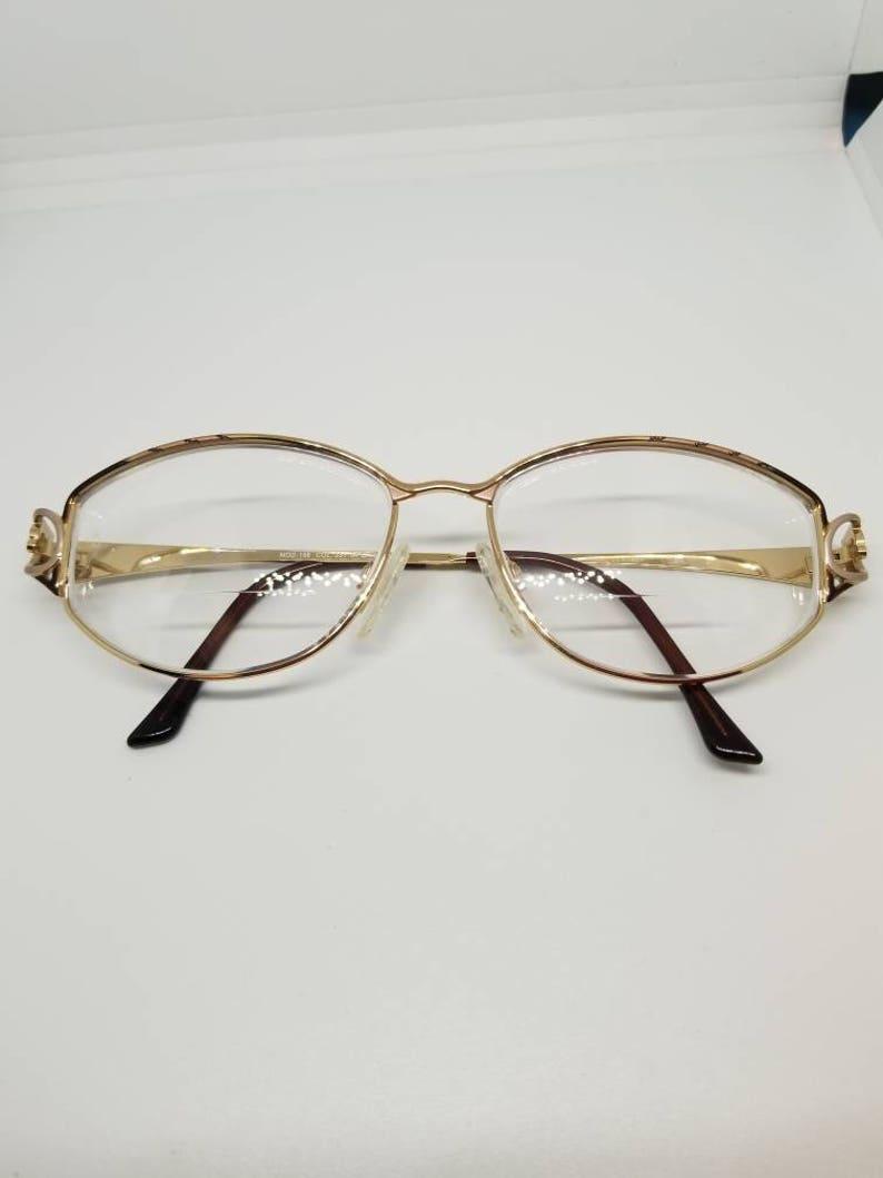 5bf7afb4de4 Vintage Cazal Gold Eyeglasses Frames Mod 158 RX LENSES