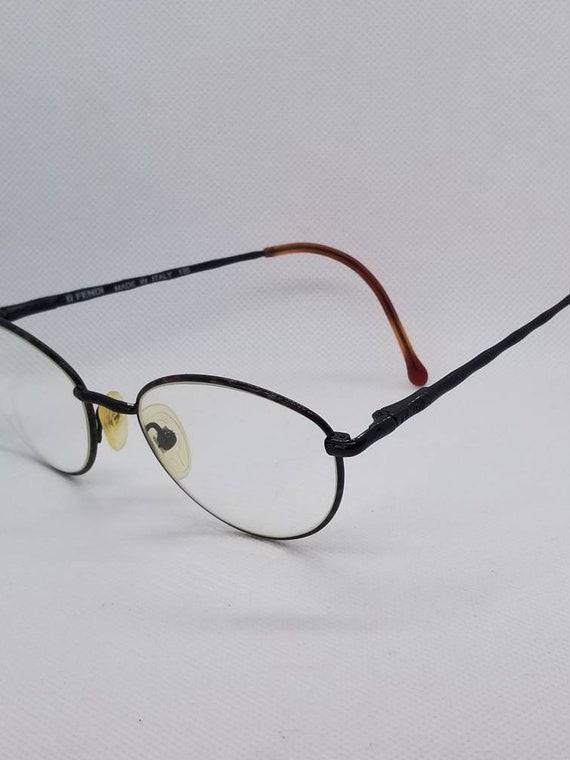 4cadba0cf1 Vintage Fendi Eyeglasses Frames Mod F 35 Tortoise Shiny Black