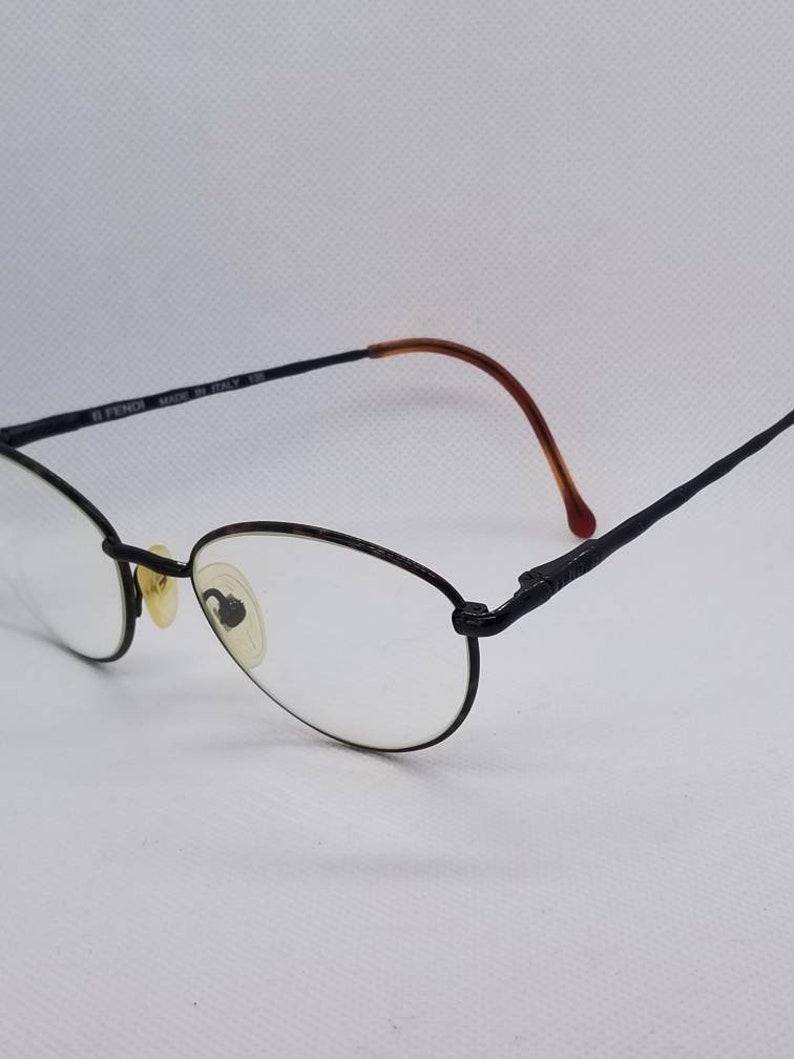 46b3323c62f Vintage Fendi Eyeglasses Frames Mod F 35 Tortoise Shiny Black