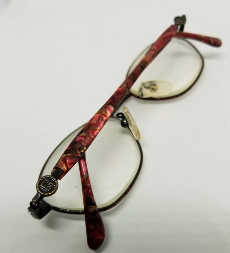 f0df28bad8a Vintage Fendi Eyeglasses Frames Mod.F41 Rose Tortoise Espresso