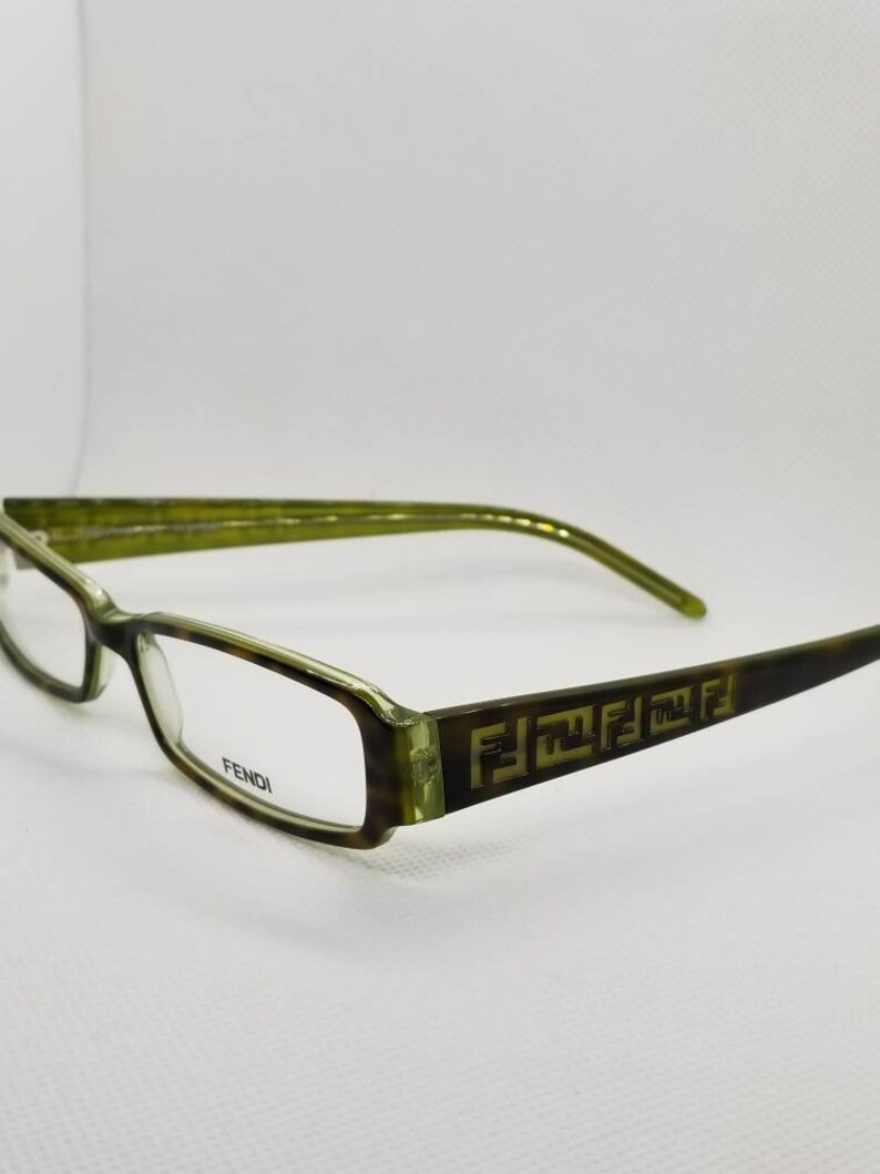90958c6354ea Vintage New Old Stock Fendi Green Tortoise Eyeglasses Frames