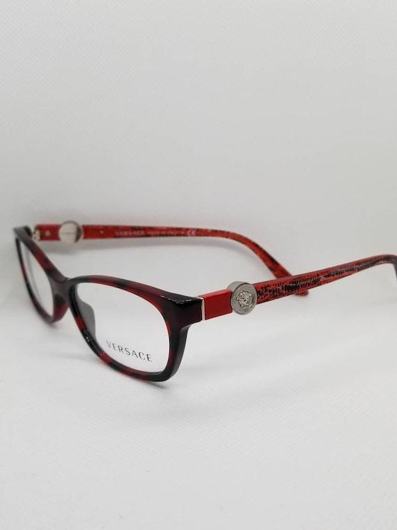 ce5fbe8baeb4c Vintage New Old Stock Versace Eyeglasses Frames Mod 3164 Red