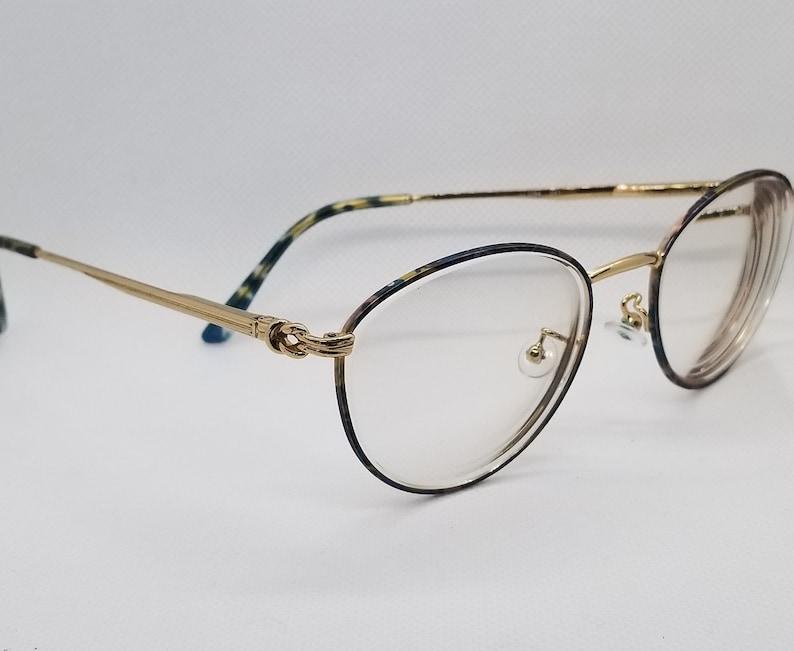 7d5ef1a7c758 Vintage Gucci Gold Eyeglasses Frames Mod GG 2284 RX LENSES image ...