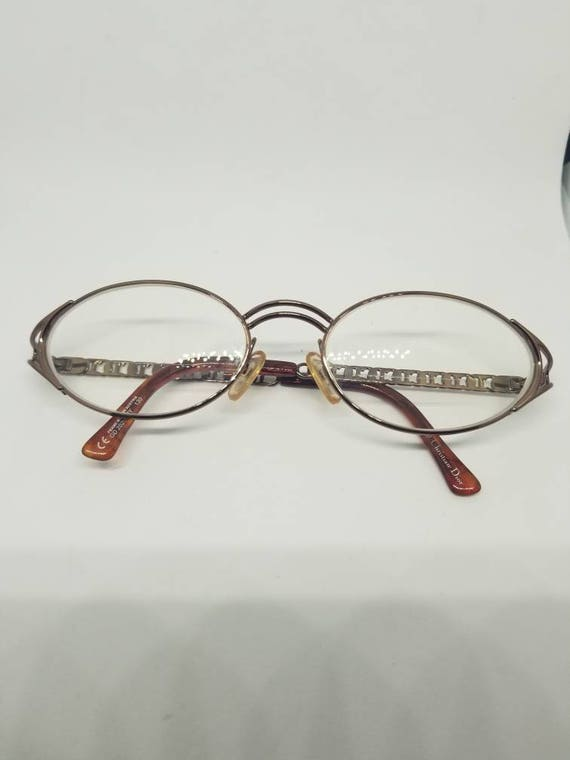 1b5f8a374b4 Vintage Christian Dior Bronze Eyeglasses Frames Mod.CD 2029