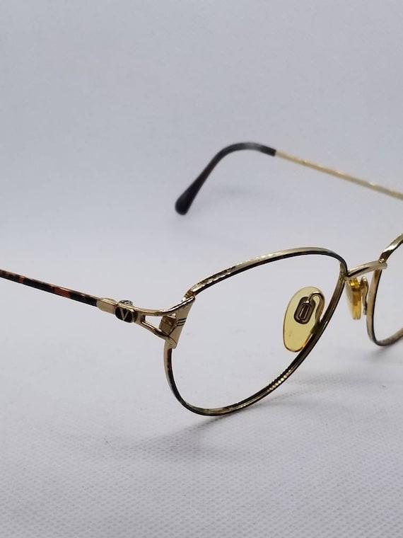 c503ff93feb Vintage Valentino Gold Eyeglasses Frames Mod V398 NO LENSES