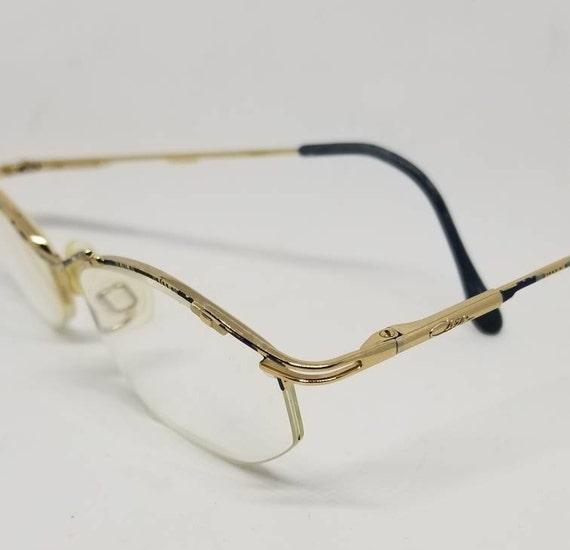 056ce42c2b Vintage Cazal Gold tone semi Rimless Eyeglasses Frames blue RX LENSES