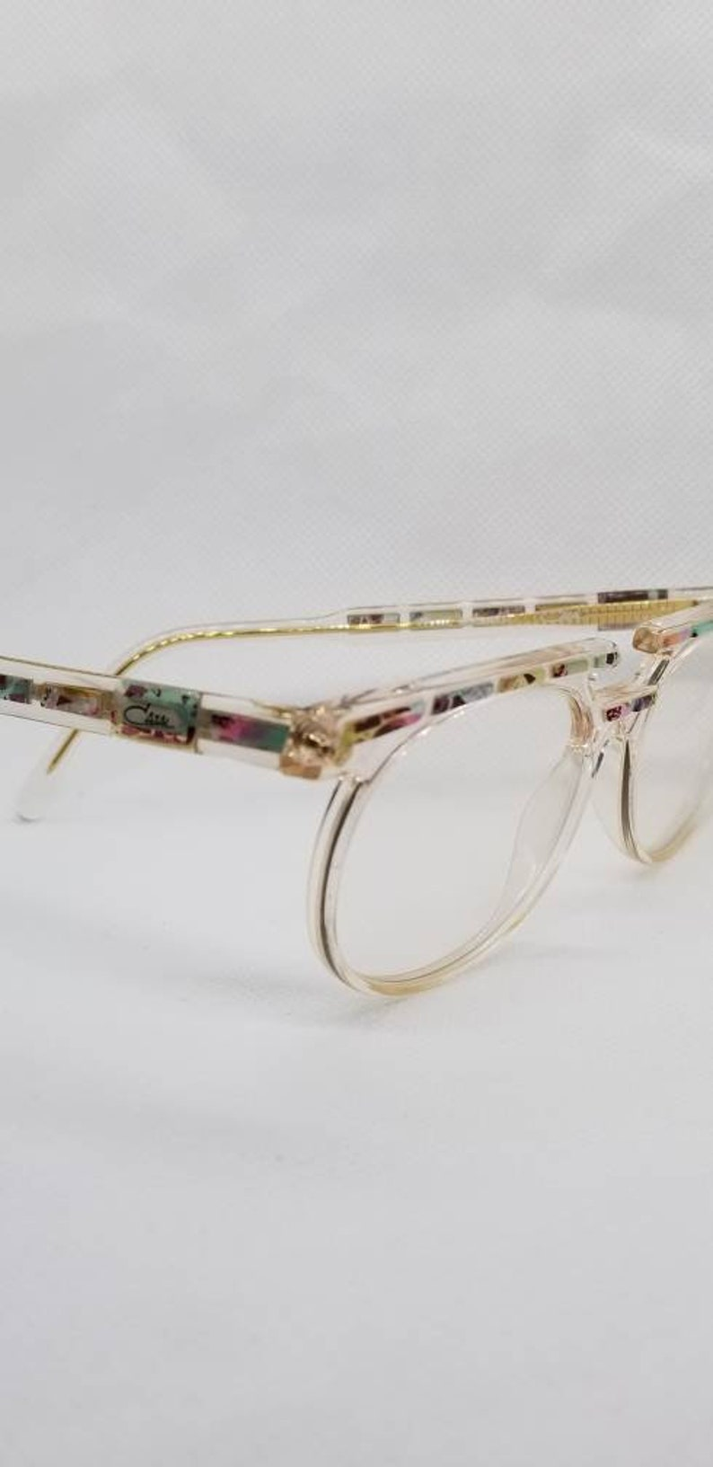 0ce90bd4657 Vintage New Old Stock Cazal Crystal Eyeglasses Frames Mod 514