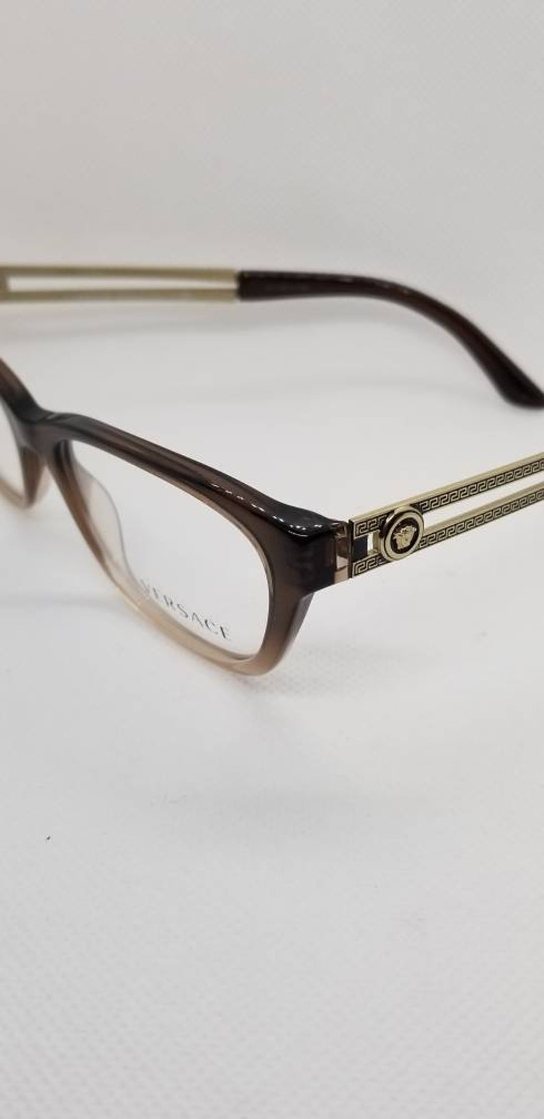 ce699a9a86185 Vintage New Old Stock Versace Gold Eyeglasses Frames Mod 3220