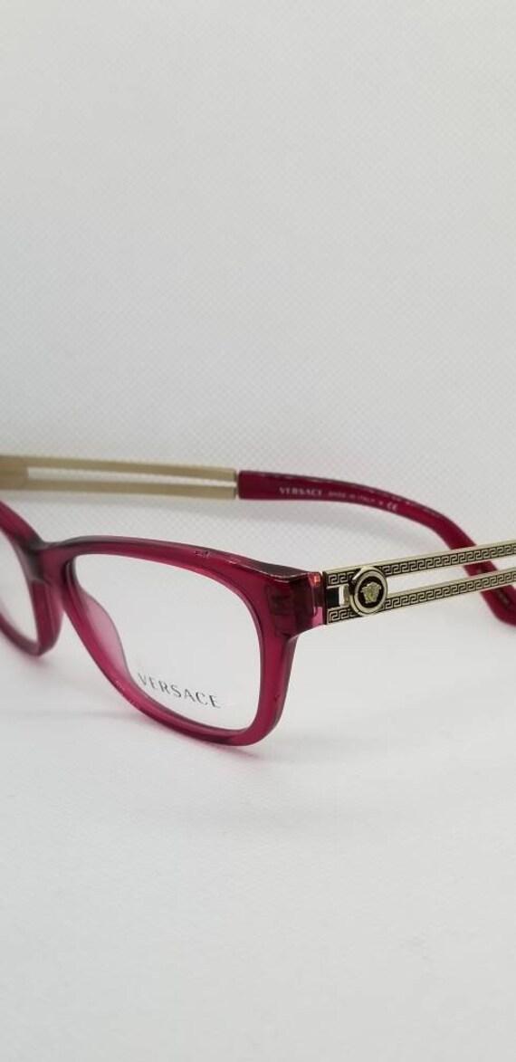 ed3c10b4906 Vintage New Old Stock Versace Pink Gold Eyeglasses Frames Mod