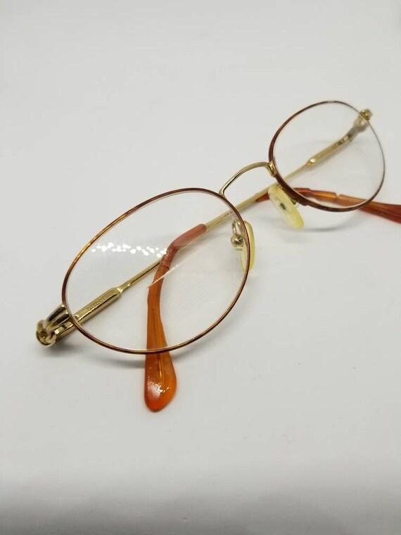 84ed2124dcb Vintage Gucci Gold tone Eyeglasses Frames