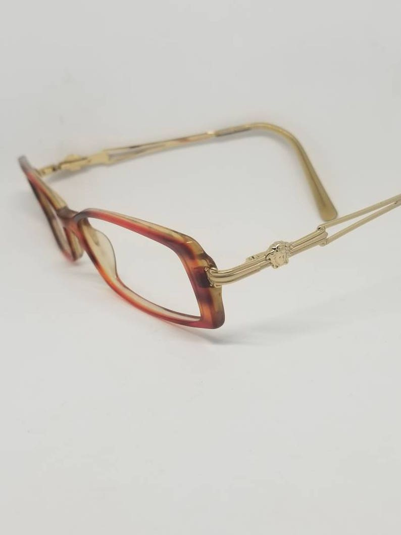 4abf1bdc2265b Vintage Versace Gold Eyeglasses Frames Mod 3010 RX LENSES