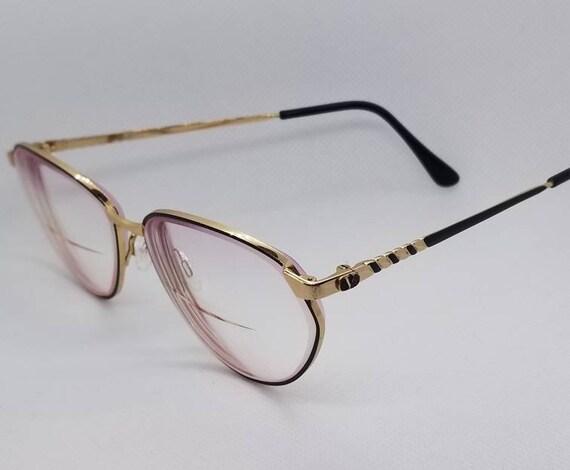 2b7f1758ea9 Vintage Valentino Gold Eyeglasses Frames Mod V358 RX LENSES