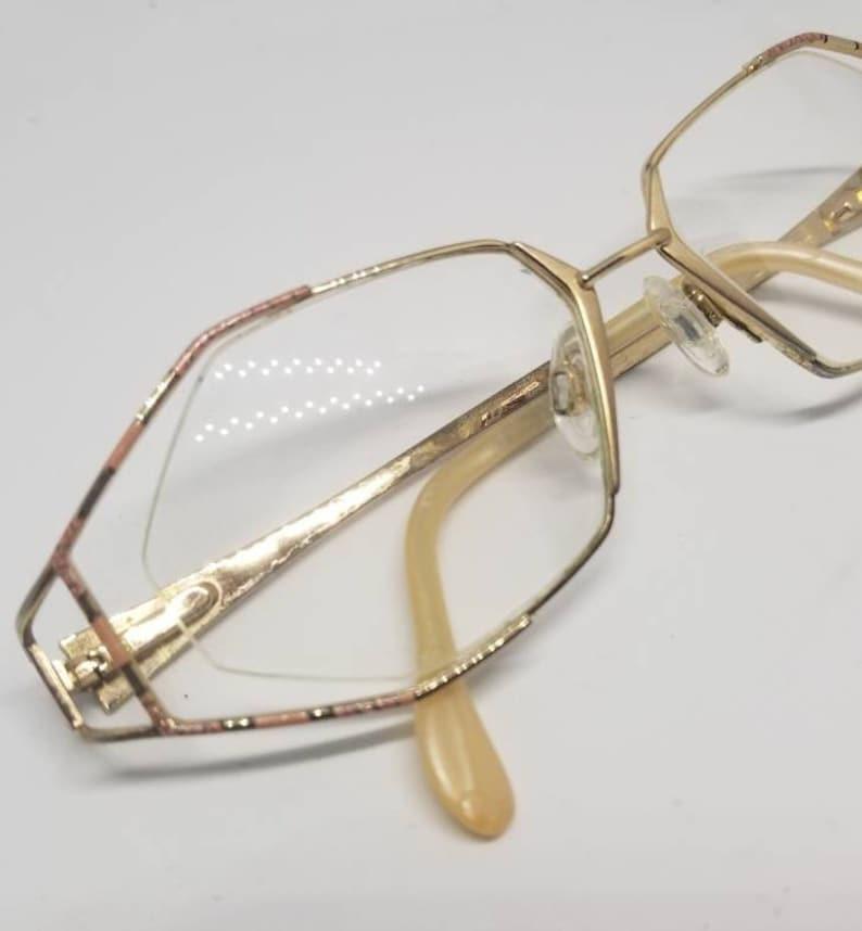 ba9693e5ae Vintage Cazal Gold tone Semi Rimless Eyeglasses Frames RX