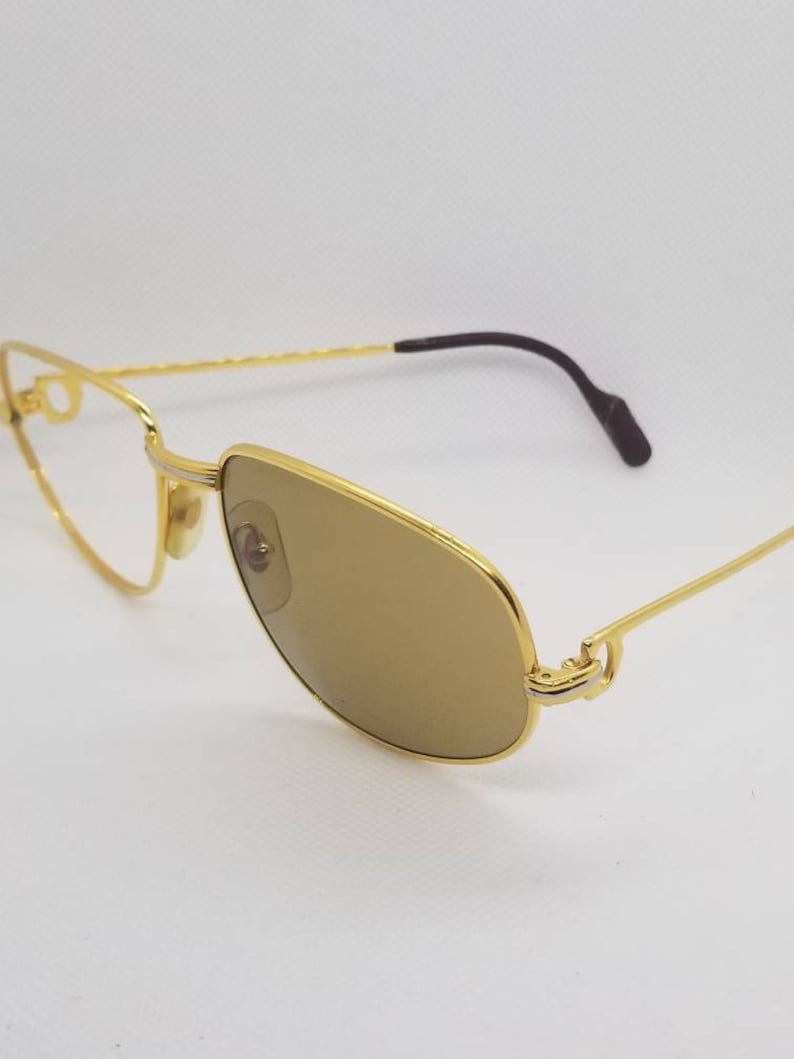 a60ce0507f1 Vintage 80s Cartier Trinity Gold Plated Eyeglasses Frames One