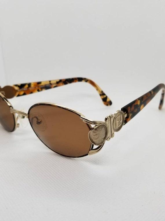 760947d98a04 Vintage Fendi Light Bronze tone Sunglasses Mod FS140 with