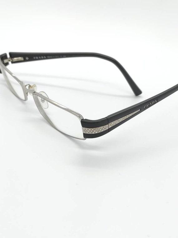 Vintage Prada Black Crystal Eyeglass Frames Mod VP