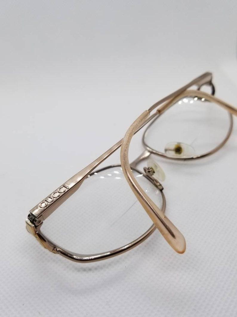 9a5014388b9 Like New Vintage Gucci Rose Gold Eyeglasses Frames Mod GG2279