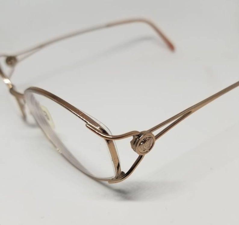 119b7e1a47d2e Vintage Versace Rose Gold Eyeglasses Frames Mod. 1035 RX