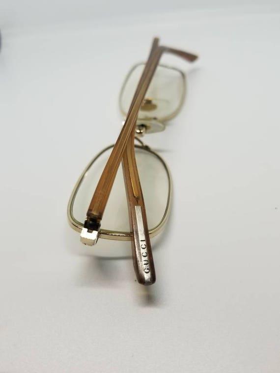 9e87c017182 Vintage Gucci Gold Eyeglasses Frames Mod GG 9505J RX LENSES