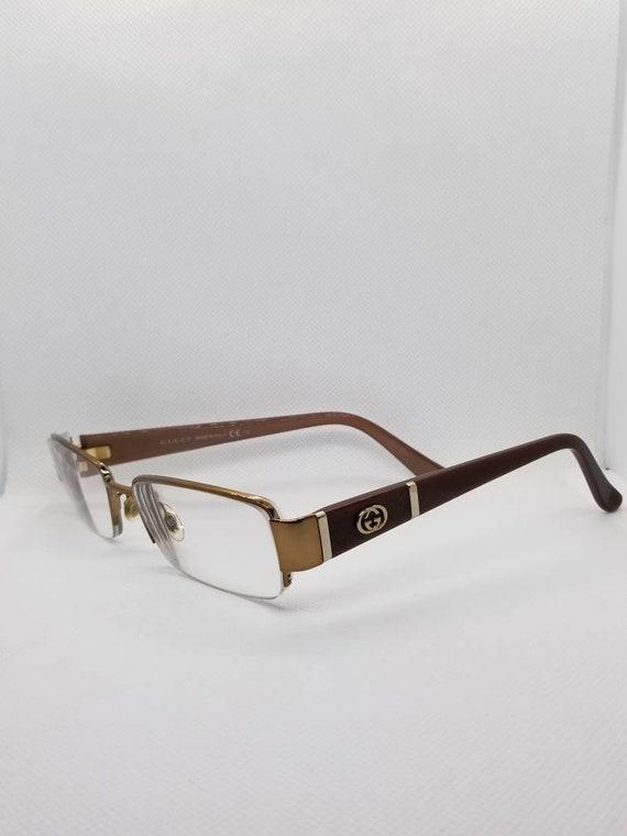 Vintage Gucci Copper Semi Rimless Eyeglasses Frames RX LENSES | Etsy