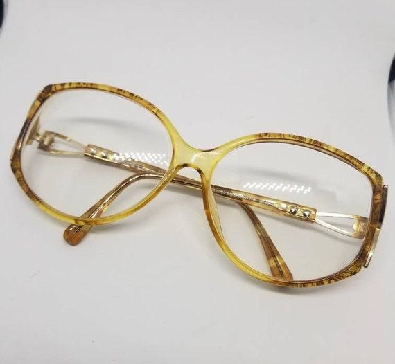 ebbfc44bc3f Vintage Christian Dior Gold Eyeglasses Frames Mod.2709 RX