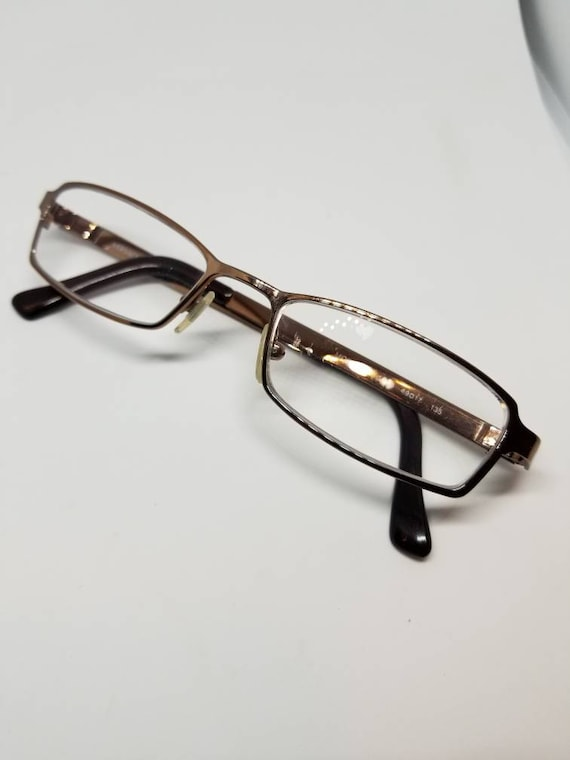 Vintage Versace Polished Bronze Eyeglasses Frames Mod 1041 RX   Etsy