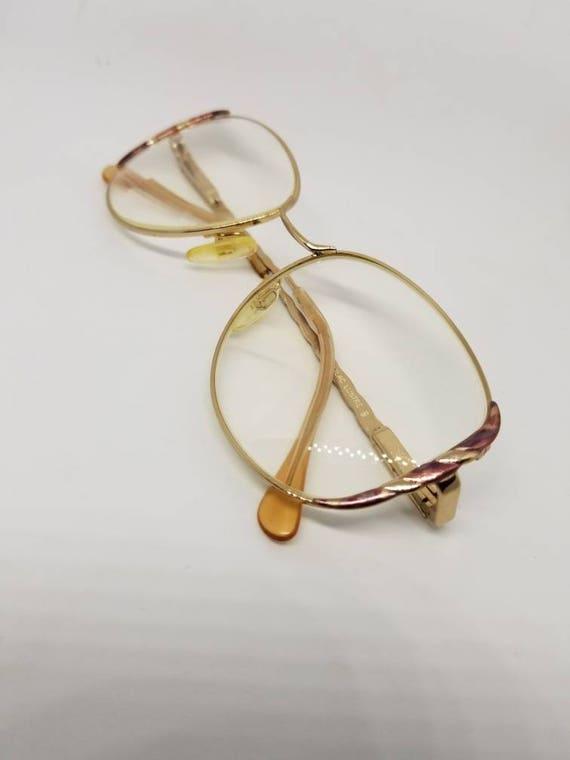 1fb7ec3765 Vintage 90s Fendi Gold Eyeglasses Sunglasses Frames Mod F13