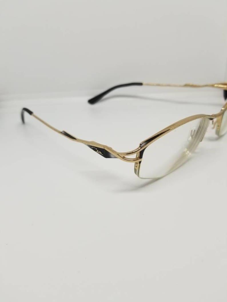 64ed80e511 Vintage Cazal Gold Semi Rimless Eyeglasses Frames Mod 458 RX