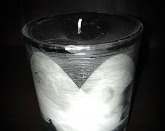 Black/White Nag Champa Scented Soy/Paraffin Blended 10oz. Candle