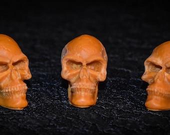 3 Pumpkin  Scented Skull Soy Melts