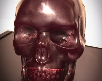 Red Paraffin 3LB. Skull Candle