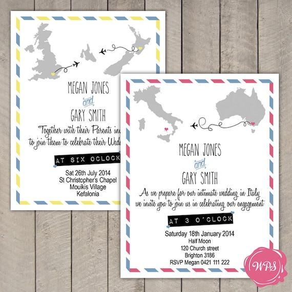 Items Similar To Destination Wedding Invitation