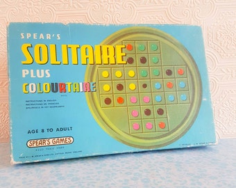 Vintage Spear's Solitaire plus Colourtaire game | 1970s game