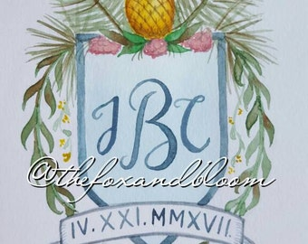 Custom Wedding Monogram for Invitations/Save the Dates/Programs