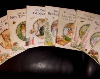 Beatrix Potter book collection-Nine hardback books Tittlemouse,Benjamin Bunny,Tailor of Gloucester& more!