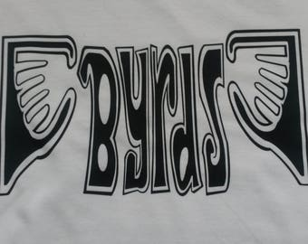 The Byrds Printed T-shirt Top Rare 60s 70s Vintage Tour Style LP Vinyl CD Gram Parsons David, Crosby, Stills, Nash And Young