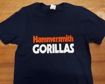 Hammersmith Gorillas Printed T-shirt Top Album 70s Garage Rock Vintage Style Tour Jesse Hector Band Crushed Butler Punk Rock