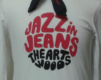 Jazz In Jeans The Artwoods Printed Long Sleeve T-shirt Top. Rare Mod 60s Vintage Style Sixties Album EP