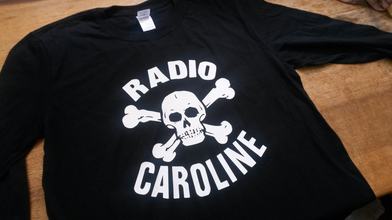7efdc7ecf3bd Radio Caroline Printed Long Sleeve T-shirt Top. Rare Mod 60s | Etsy